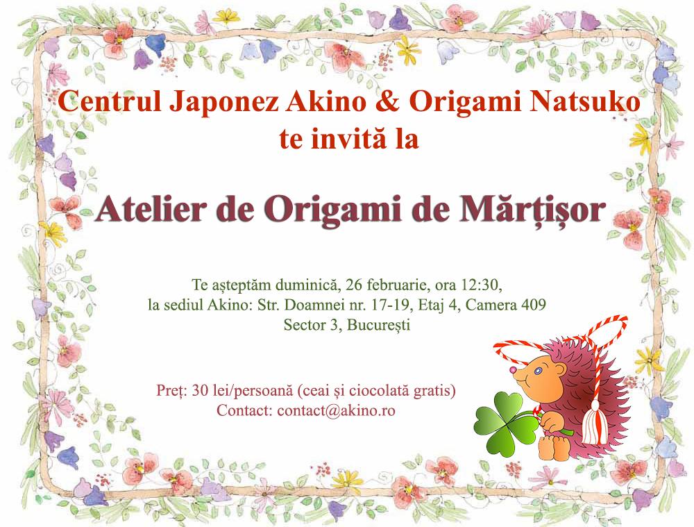 Origami-martisor
